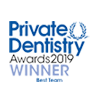 The Dentistry Awards 2019 Best Team logo