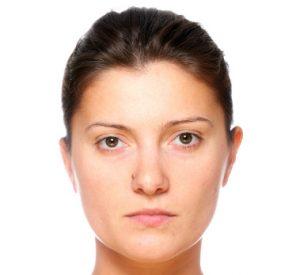 lady's face, no makeup, skin, close up