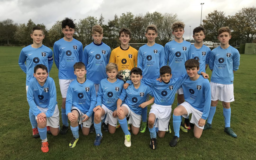 Honour Health proudly supports Ponteland Under 14 Blues