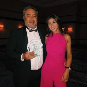 Onkar Dhanoya and Gulshan Dhanoya of Honour Health - winners of 'Dental Team of the Year' at The Dental Awards 2019