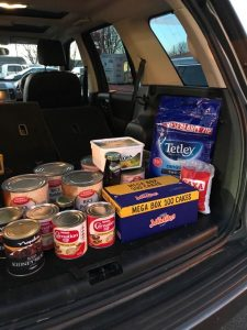 Honour Health's donations to a local food bank